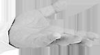 Mão direita palhaço - Doutores da Alegria
